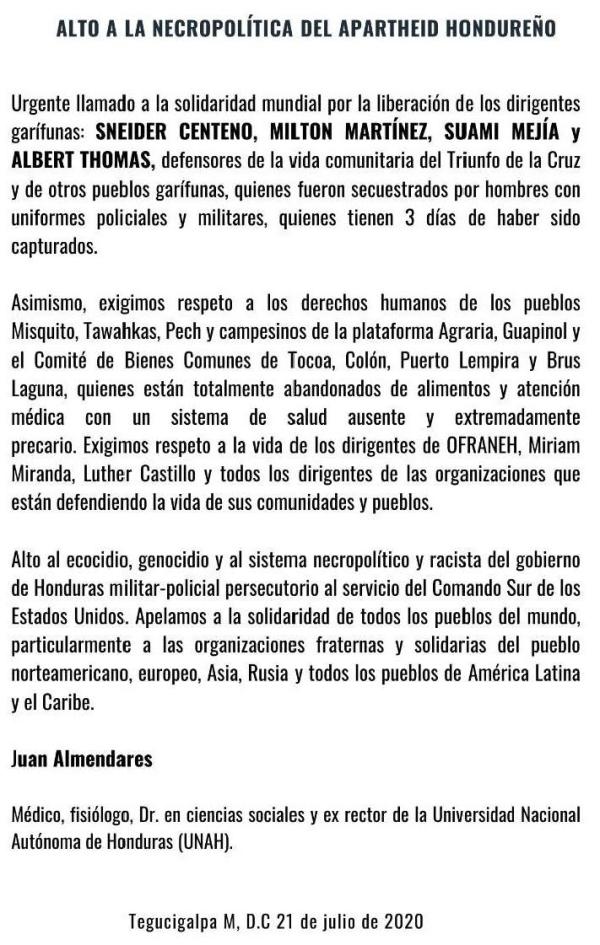 _____Honduras__repre2020 apartheid